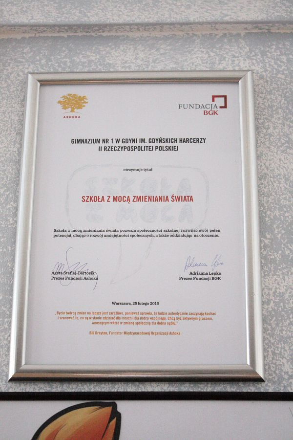 Szkoła z mocą zmieniania świata - jedna z sześciu w Polsce